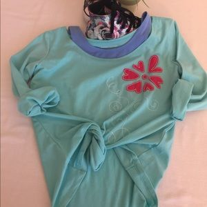American girl turquoise knit top size 14/16
